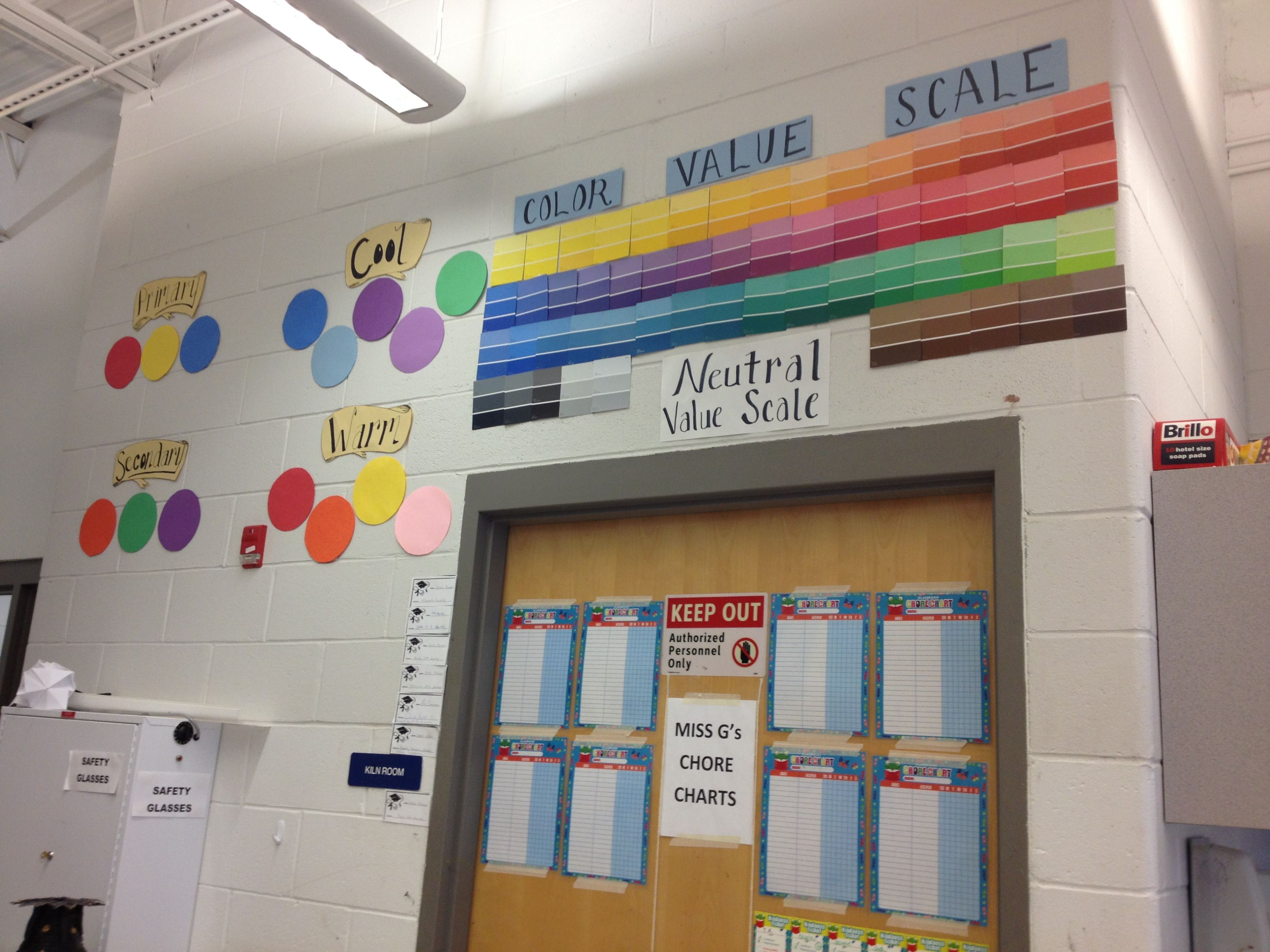 Color Theory Amp Value Scale Making The Art Room Walls Fun