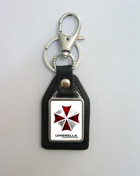 30f0eb8b7 Resident Evil Umbrella Corp Leather Keychain   Resident Evil ...