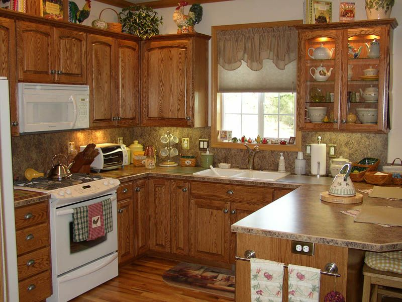 Exellent Oak Country Kitchens E And Design Decorating