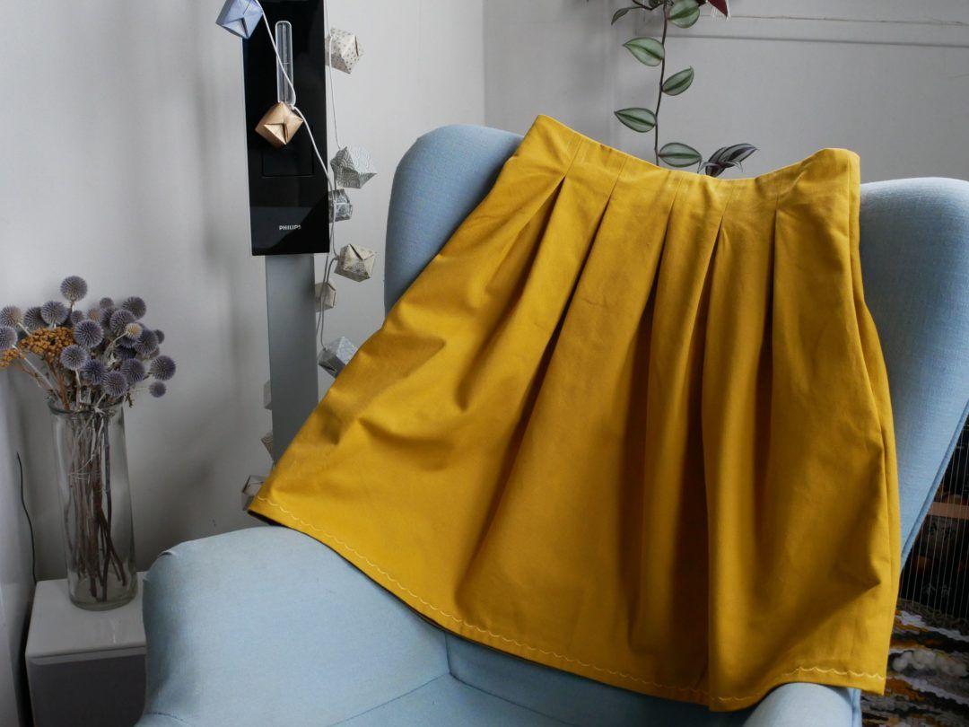 Comment Faire Du Jaune Moutarde couture : une jupe chardon jaune moutarde | jupe moutarde