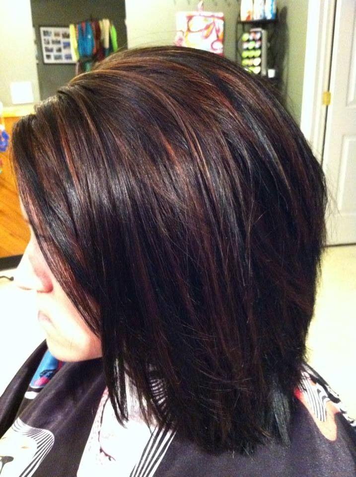Dark hair with highlights google search hair nails and make dark hair with highlights google search dark hair red highlightsred peekaboo pmusecretfo Choice Image