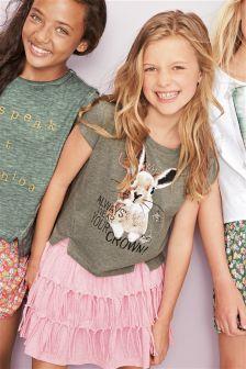 Khaki Bunny T-Shirt (3-16yrs)