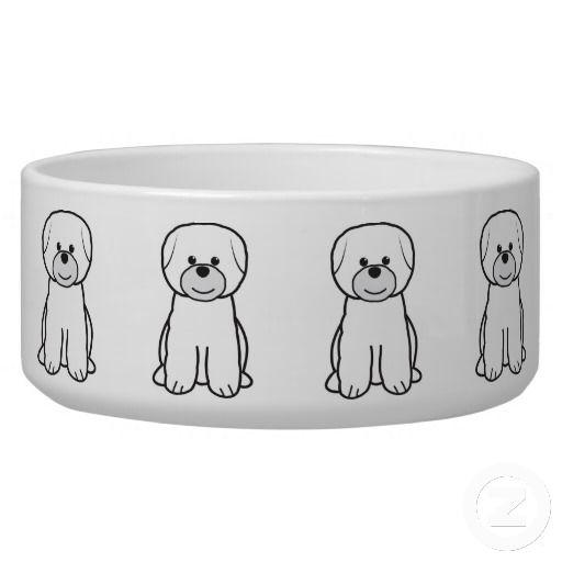 Bichon Frise Dog Cartoon Dog Water Bowls Dog Bowls Irish Setter