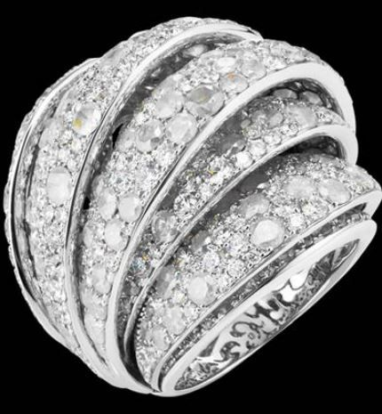 De grisogono-jane-web-May.2013,  white gold ring set with white diamonds