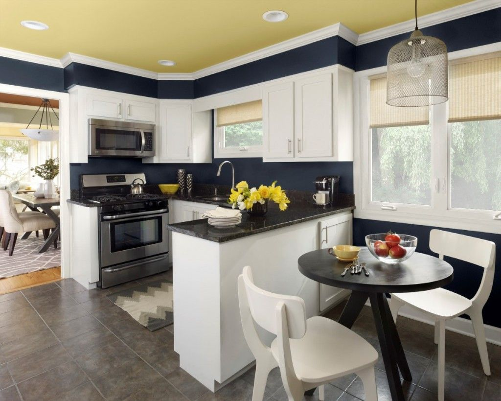 Best kitchen colors with white modern kitchen