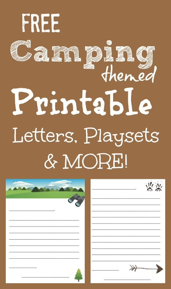 free printable camping themed letter templates play sets no sew play set tutorial links and more love this travel blog nature themed ideas and places