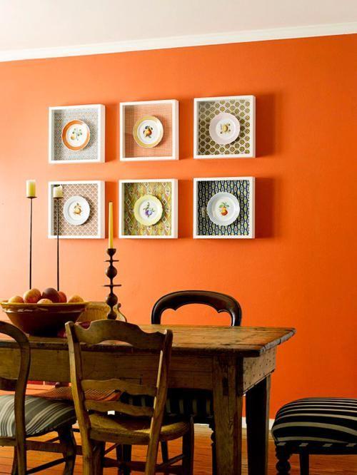 Amazing wall decor on orange wall color 500x666 wall decoration ideas wall floor ideas