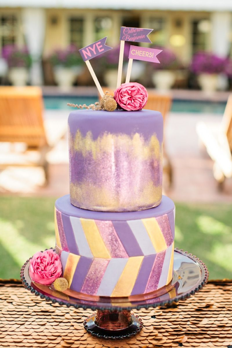 Colorful new yearus eve wedding inspiration cake photos cake and