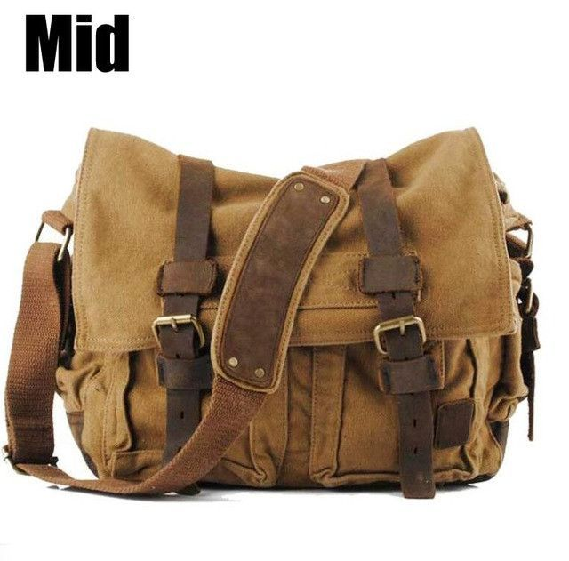 ecb126f31a19 ANAWISHARE Canvas Leather Crossbody Bag Men Military Army Vintage Messenger  Bags Large Shoulder Bag Travel Bags