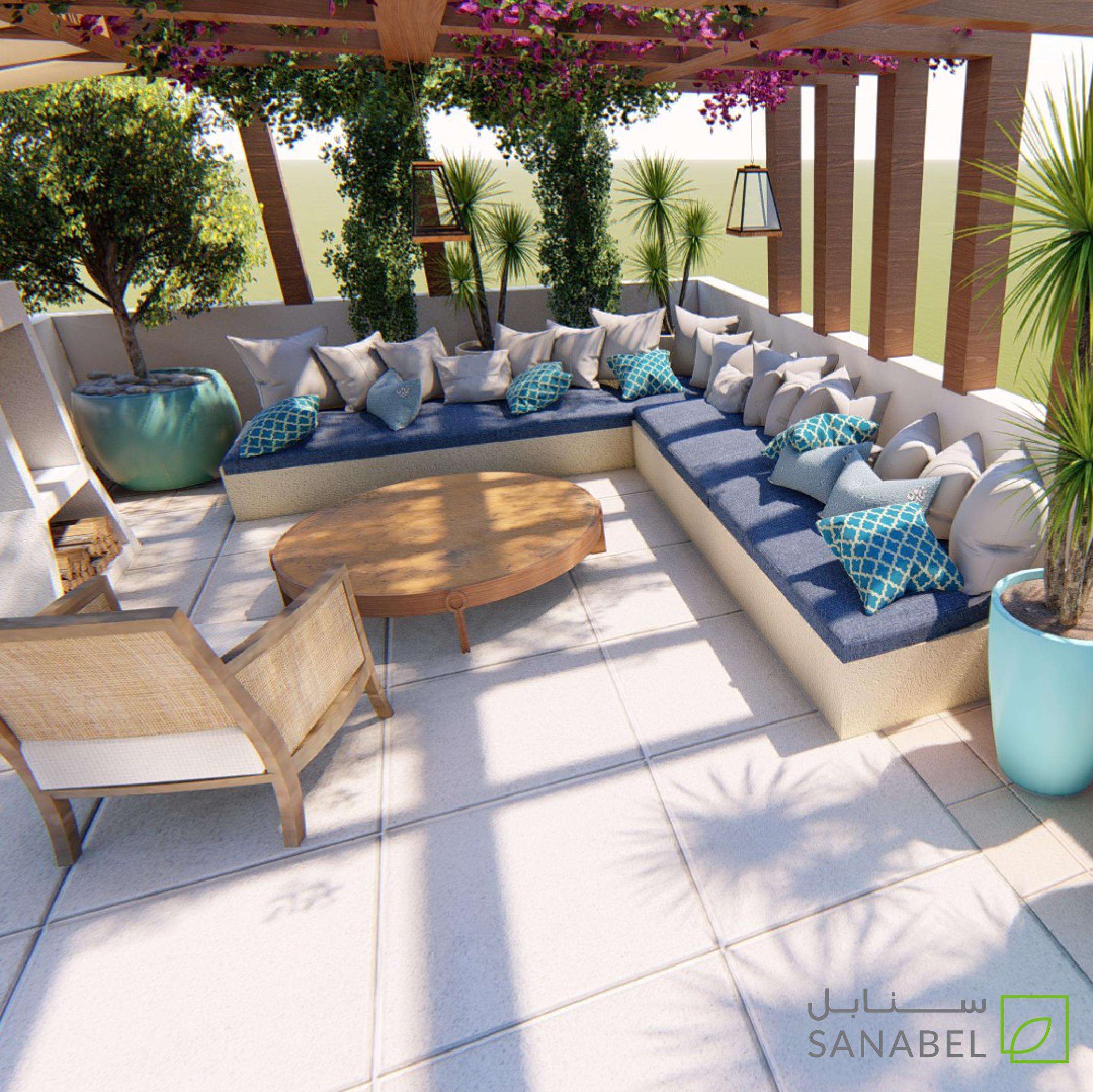 من خدمات التصميم والاستشارة لسنابل هو تصميم الأثاث الخارجي لحديقتك تصميم وتوزيع الأثاث بطريقة مناسبة تسمح بخلق مساحات مت Outdoor Decor Outdoor Furniture Patio