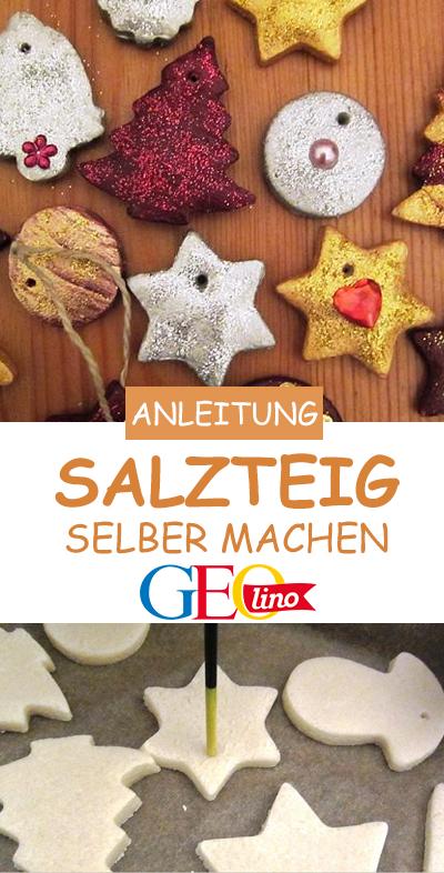 Salzsteig selber machen: Rezept & Anleitung #bastelideenweihnachten