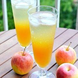 fizzy apple cider punch