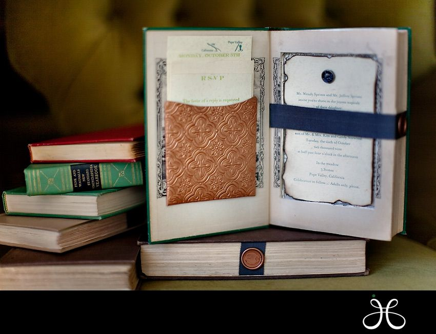 Bookish Wedding Planning :: The Invitations | Pinterest | Book ...