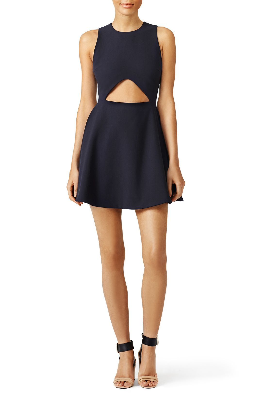 Show a hint of skin in this sophisticated cutout dress by Elizabeth and James. We love this look with strappy sandals.