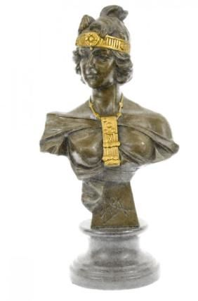 Art Nouveau Lady Bust.