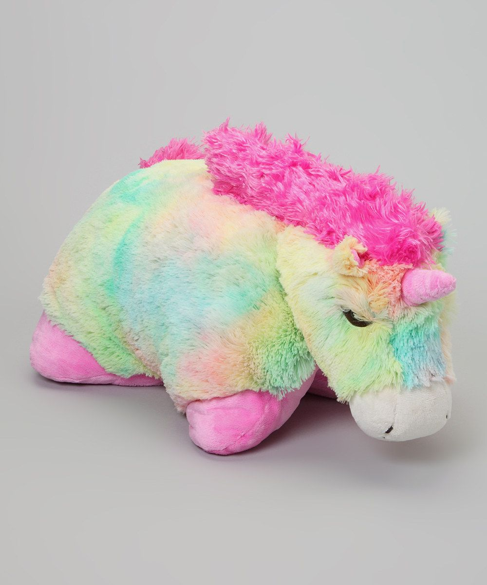 Look At This Rainbow Unicorn Pillow Pet On Zulily Today Animal