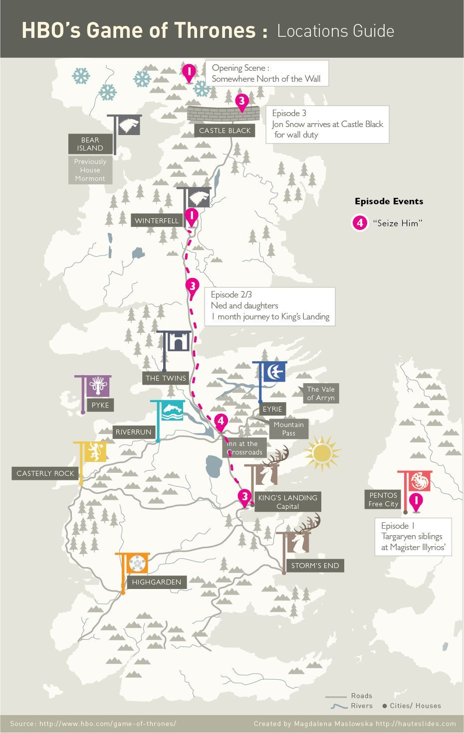 Infographics hbos game of thrones locations guide got infographics hbos game of thrones locations guide gumiabroncs Gallery