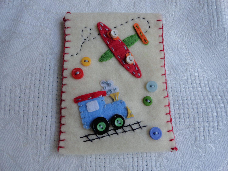 Train and Plane Felt Gift Card or Money Holder. $5.50, via Etsy.