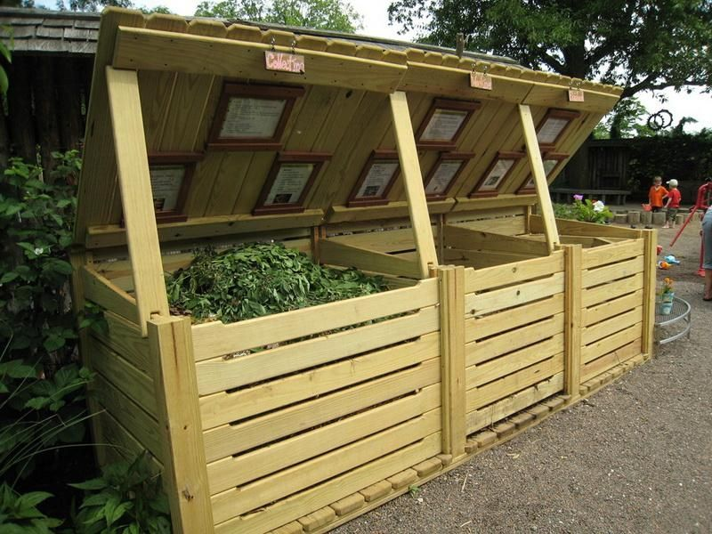 how to build a wooden box compost bin