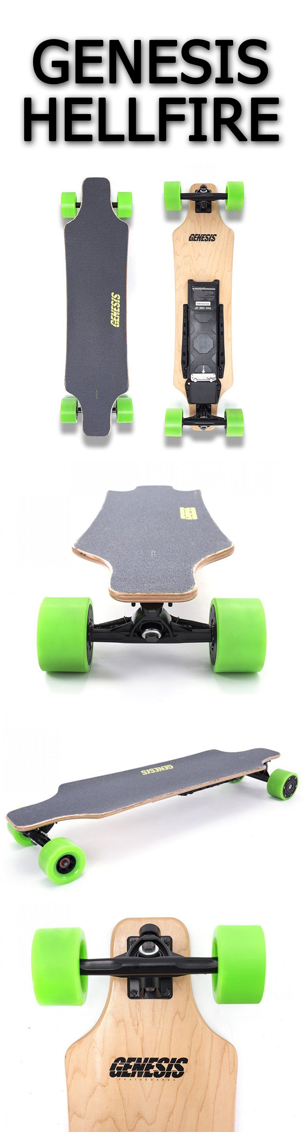 Genesis Hellfire The Genesis Hellfire Is One Of The More Affordable Boards Currently Available Which Might Initially Electric Skateboard Unicycles Fun Sports