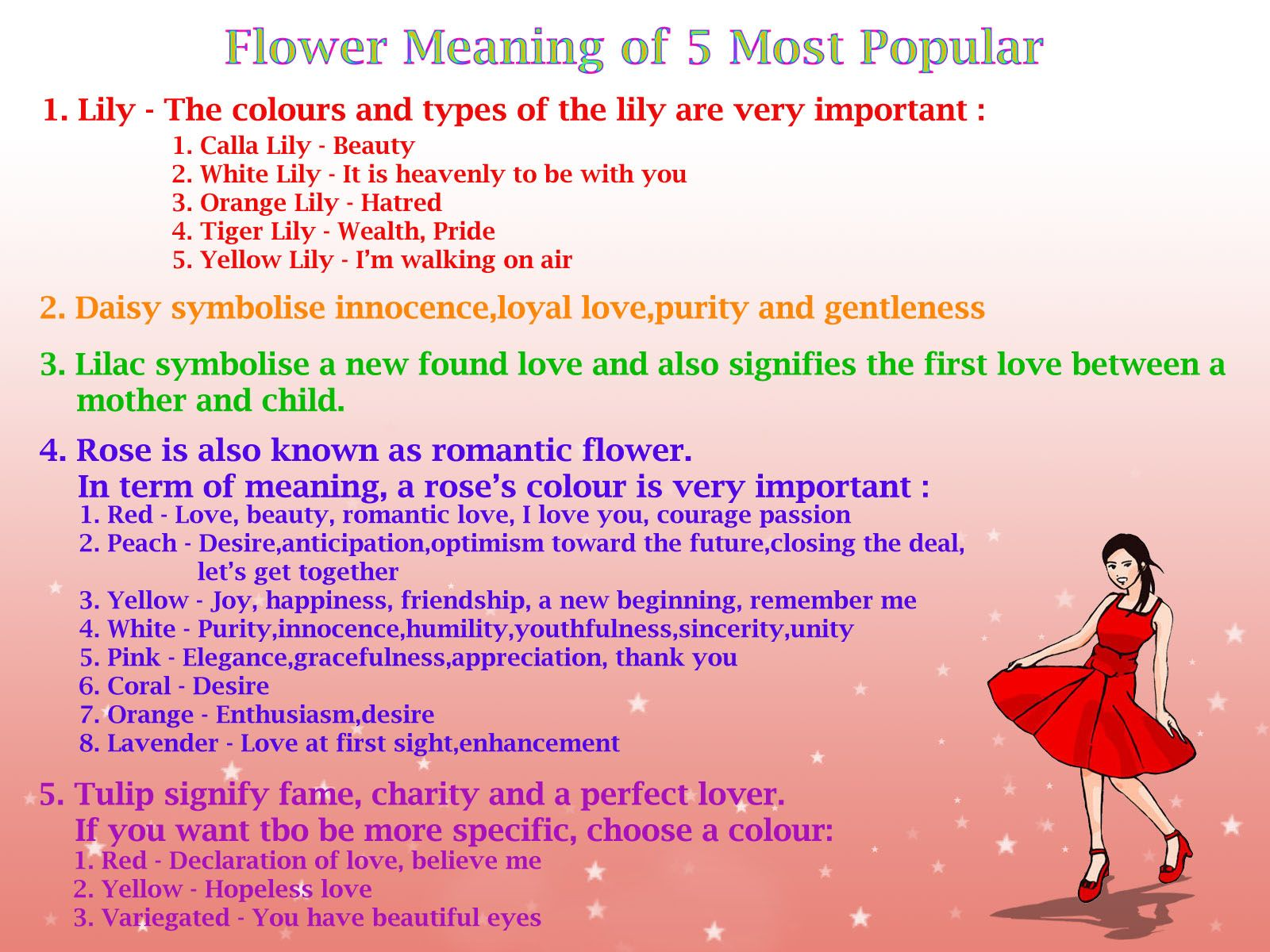 Discover Language & Meanings Flowers