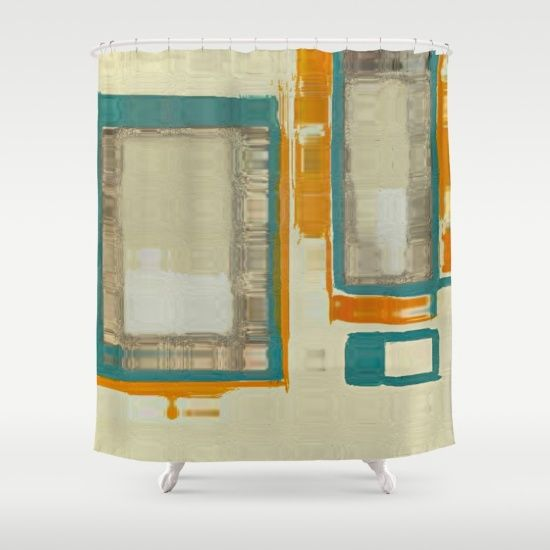 Mid Century Modern Abstract Shower Curtain by Corbin Henry | Society6
