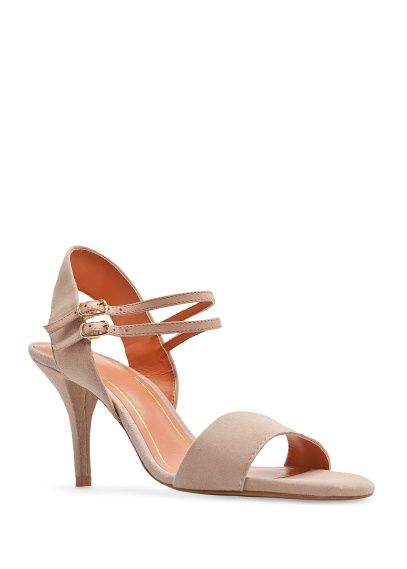 a8545ae11679 MANGO TOUCH - Suede strappy sandals