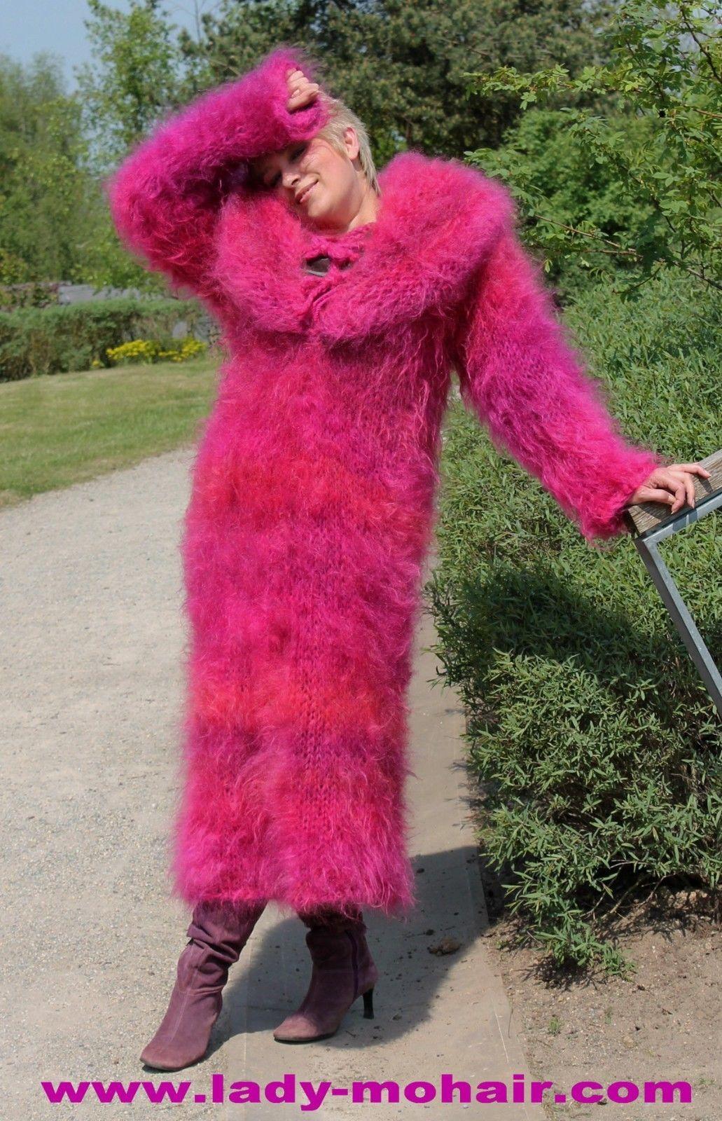Mohair FUZZY SWEATER LONG DRESS L-XL | eBay | Lady Mohair | Pinterest