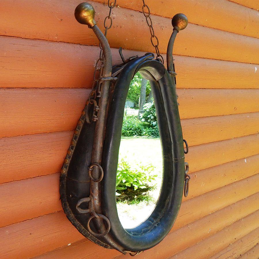 Delightful SOLD   Vintage Horse Collar Mirror   Rustic Decor | Vintage Adirondack