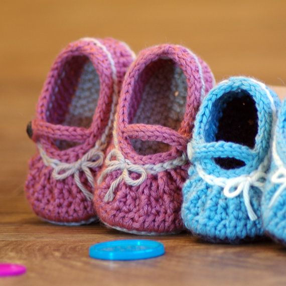 CROCHET PATTERN #210 - Baby Too Cute Mary Jane with easy gathering ...