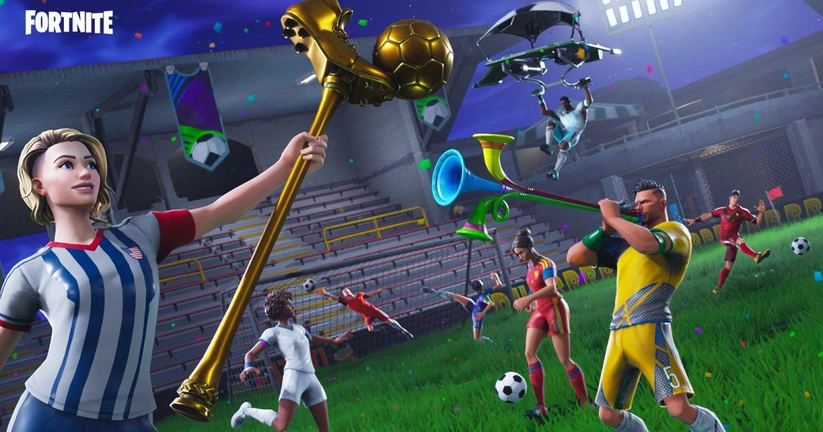 Fortnite Marks World Cup With Stadium And Goal Scoring Challenges Epic Games Fortnite Epic Games Fortnite