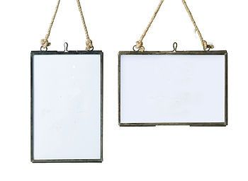 large glass hanging photo frame rough luxe interiors