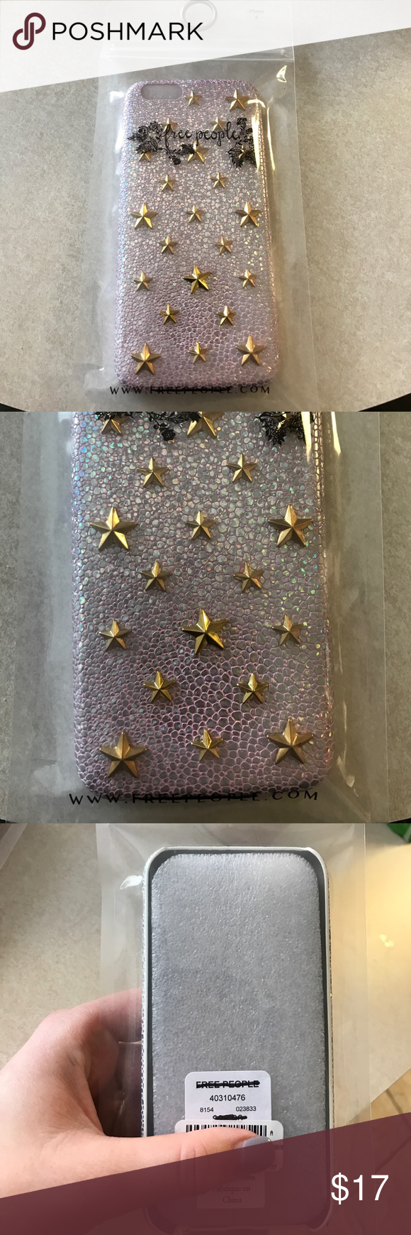 Free People iPhone 6 Case NWT. Iridescent pink. Free People Accessories Phone Cases