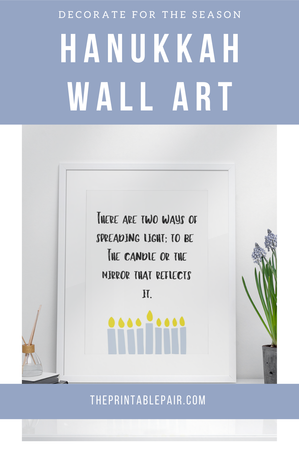 Hanukkah Decoration Chanukah Quote Print Hanukkah Wall Art Etsy In 2020 Hanukkah Quote Quote Prints Printable Wall Art