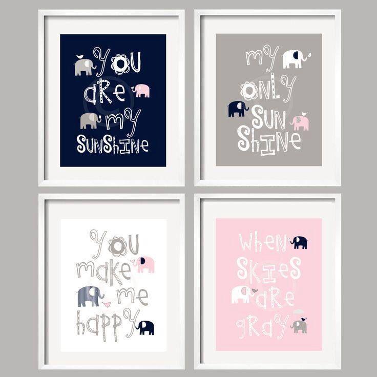 Diy Nursery Frames Grey Nursery Decor Baby Nursery Decor Pink