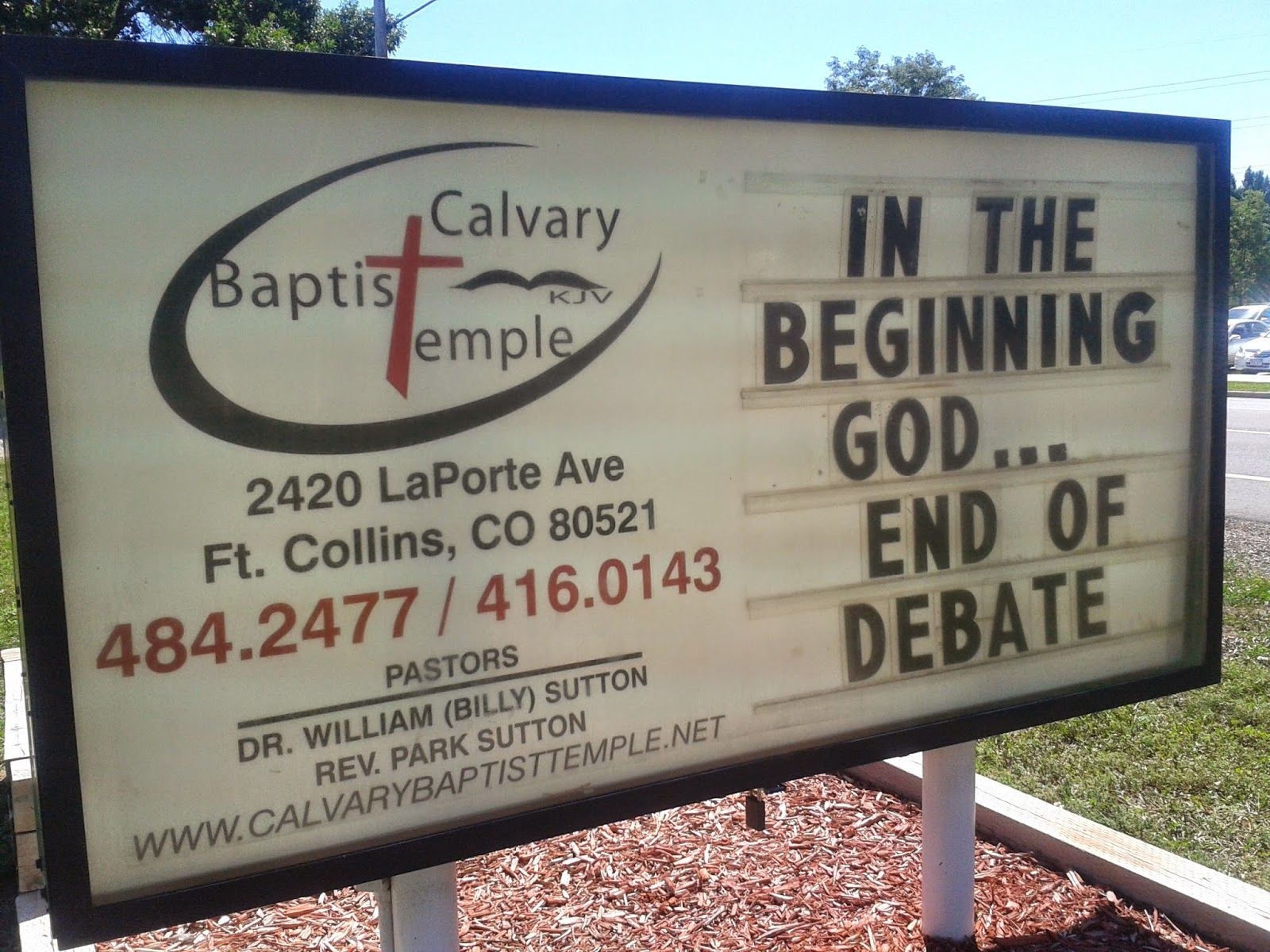 Church Sign Quotes Mesmerizing In The Beginning Goddebate Over  Church Sign Board Message