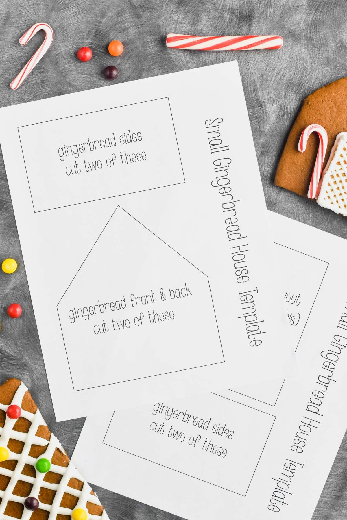 This Gingerbread House Template Printable is exactly what