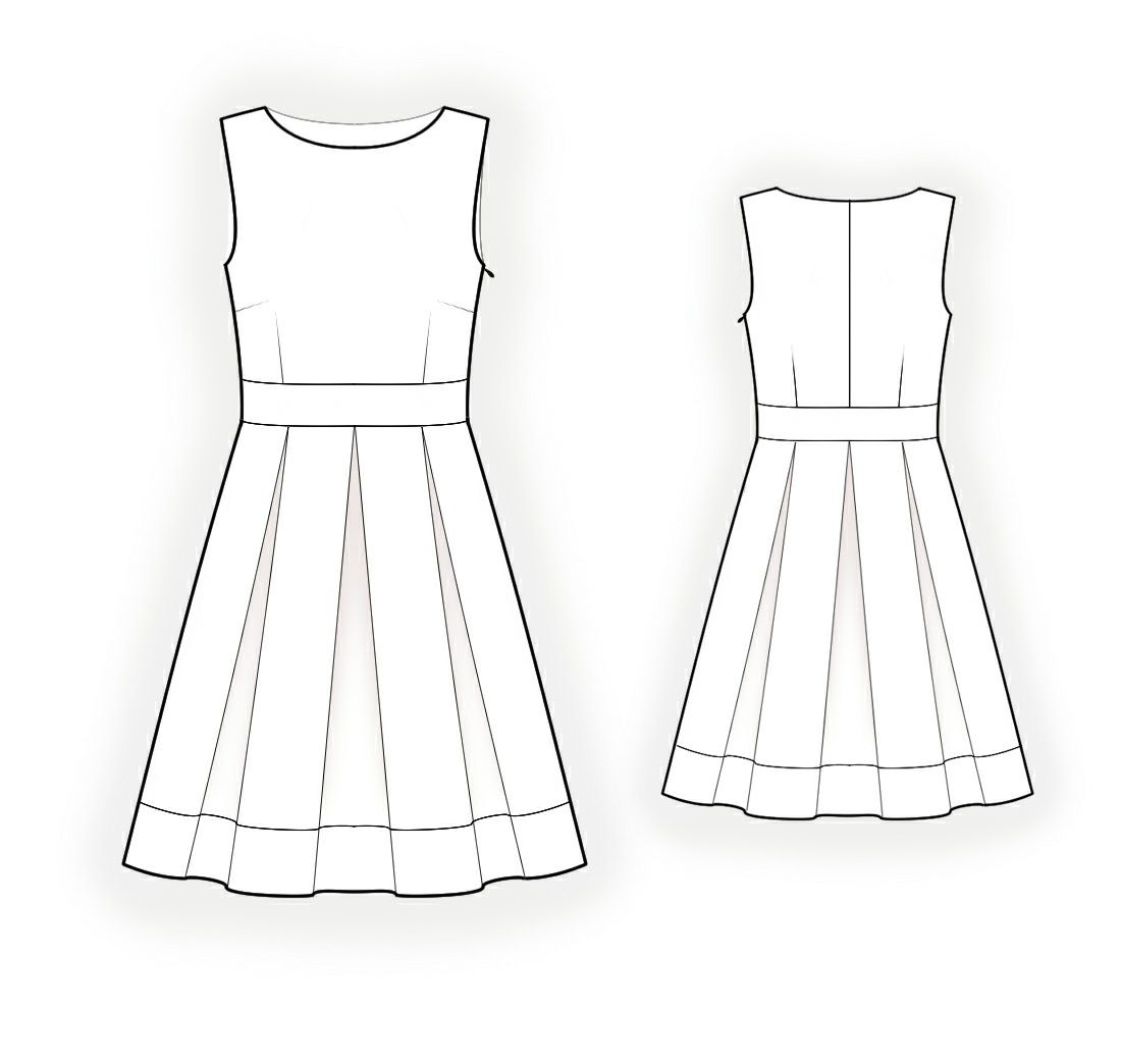 Sleeveless Dress - Sewing Pattern #4278 Made-to-measure sewing ...