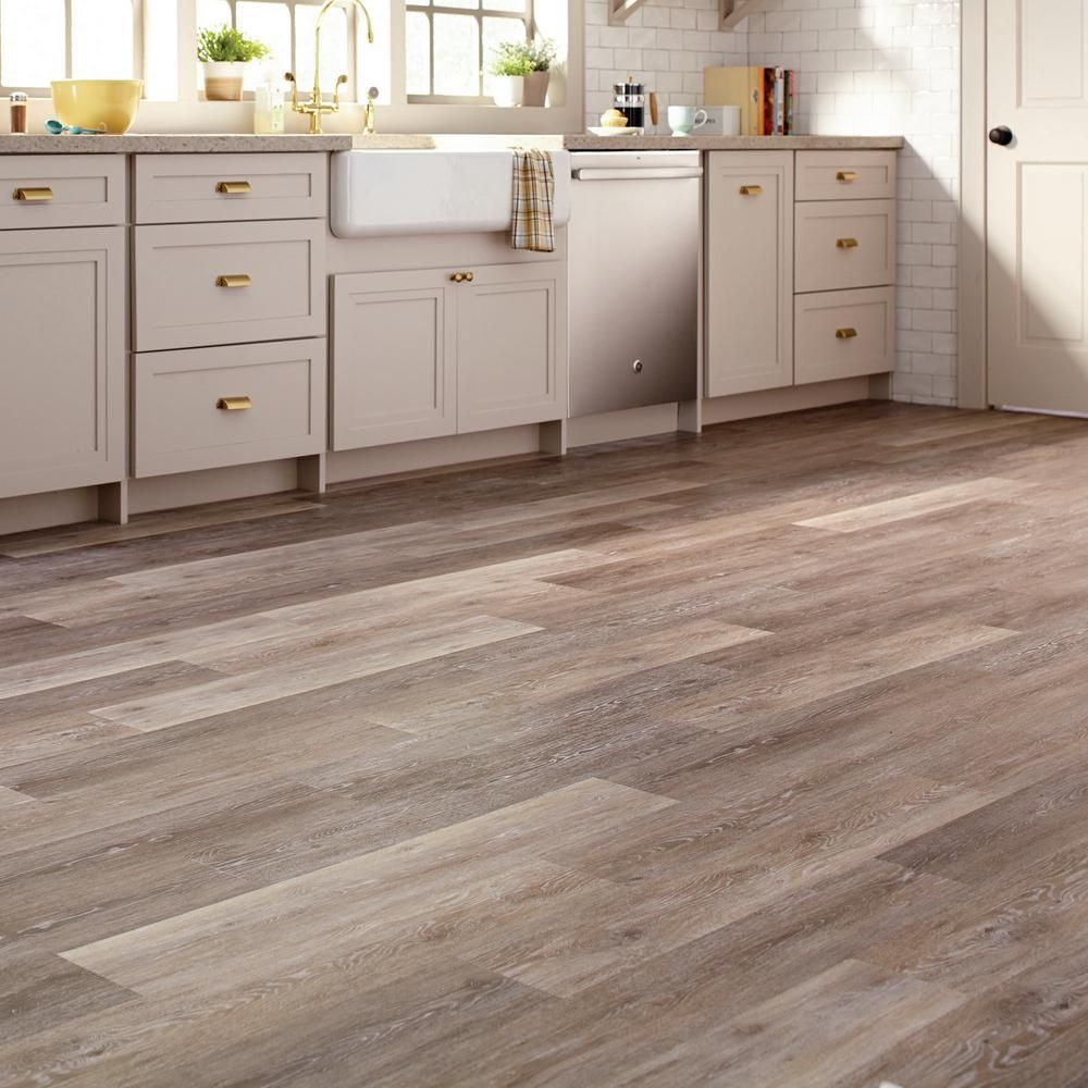 Allure 6 In X 36 In Brushed Oak Taupe Luxury Vinyl Plank