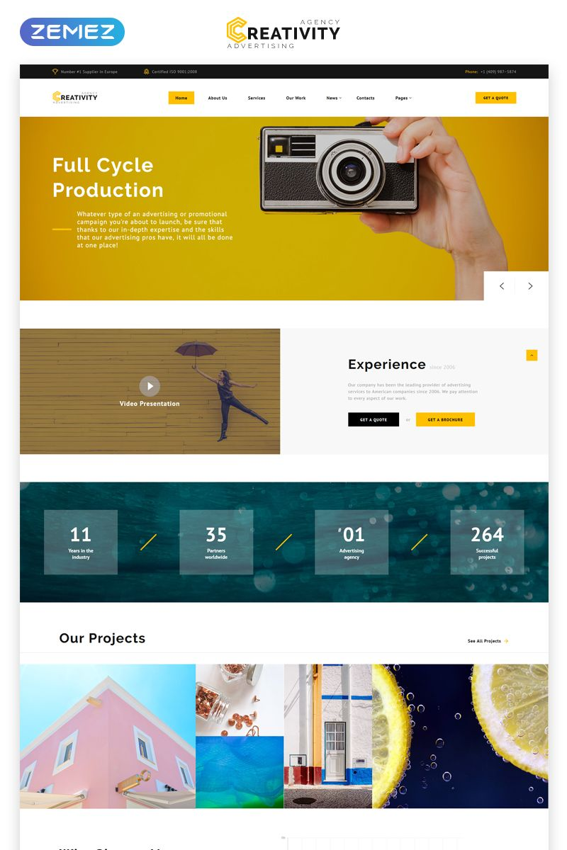 Advertising Agency Multipage Html Template Agency Website Design Website Template Website Creation
