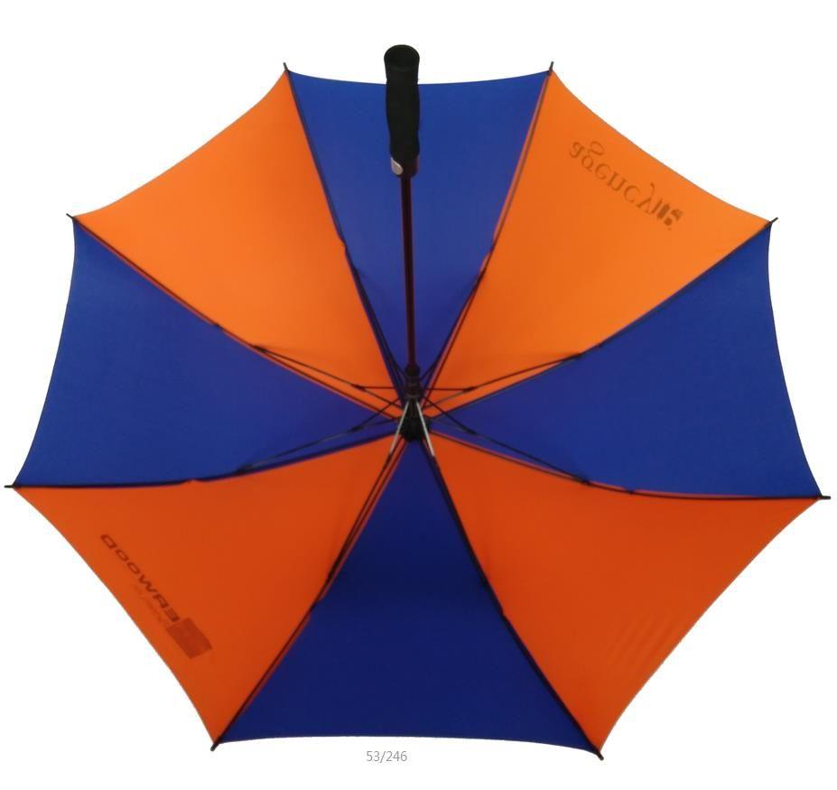 blue and orange golf umbrella  4837d77cdda94