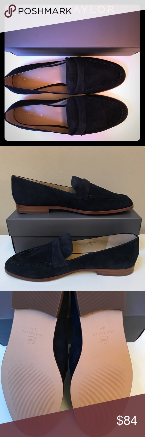 3c61b0b76fa Audriana Suede Loafers - 11M Navy Blue. New Navy blue suede loafers will go  perfect with your skirts