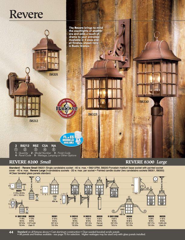 Hanover Lantern B8201 Small Revere Wall Mount