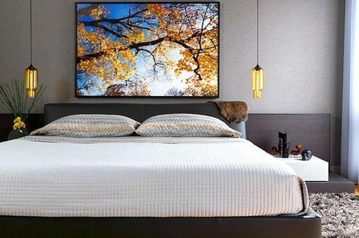 Schlafzimmer Lampe ~ Unikales schlafzimmer mit modernen und schönen pendelleuchten
