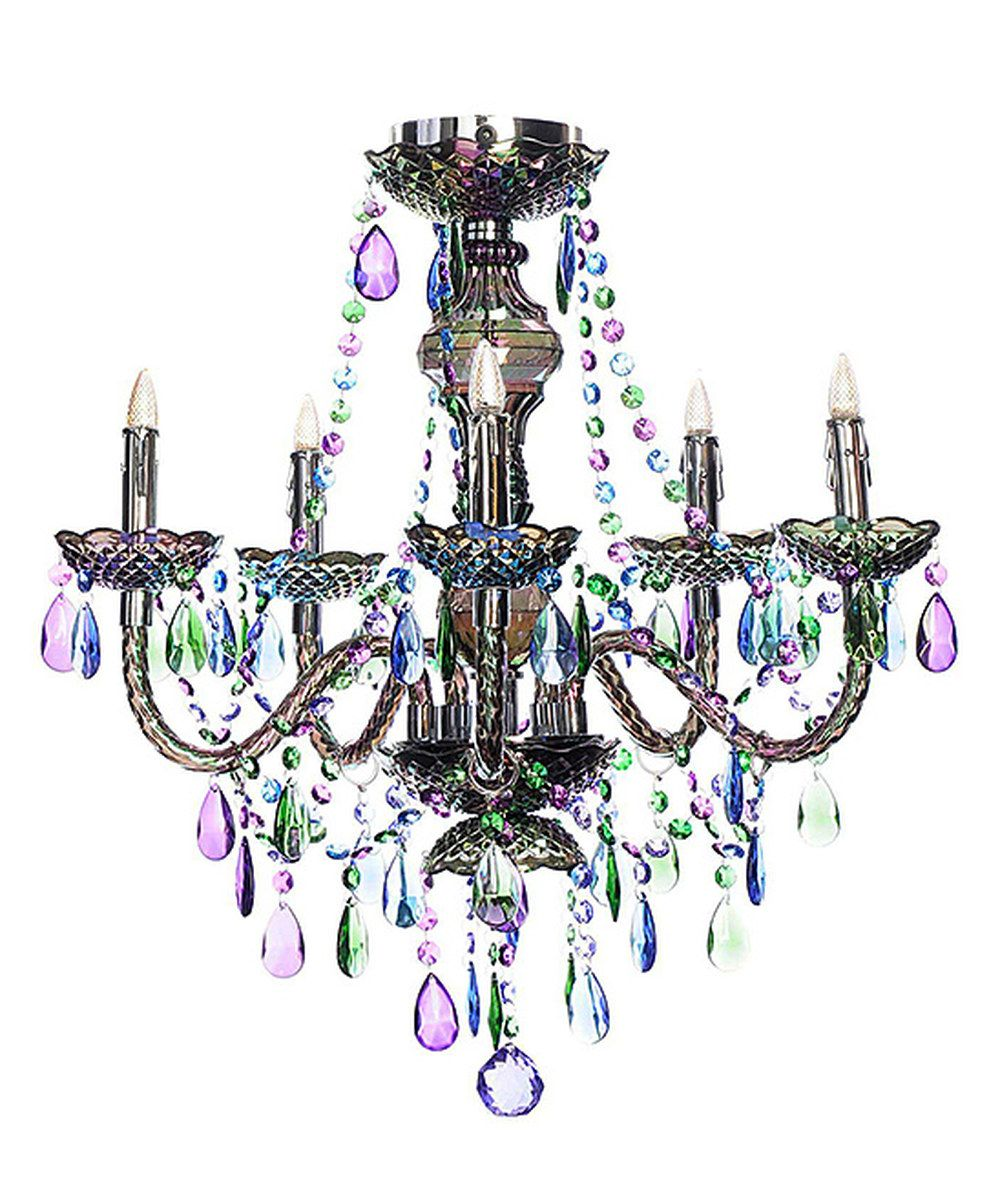 Look at this Peacock Jewel Five-Arm Wireless Chandelier on #zulily today!