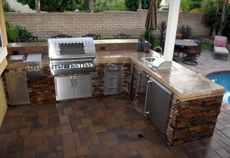 Fascinating Outdoor Kitchen For Backyard Landscape With L Shaped Design Nytexas Outdoor Kitchen Design Diy Outdoor Kitchen Outdoor Kitchen