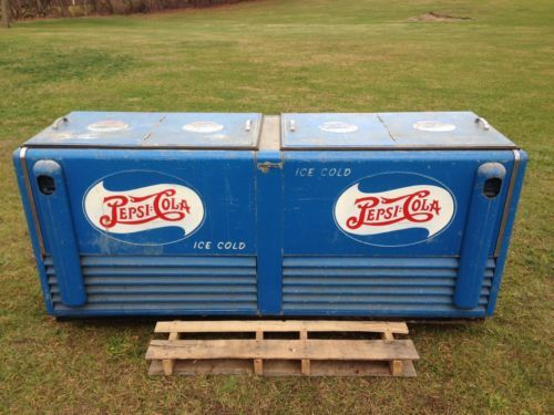 Very Rare Large Vintage Pepsi Cooler 7' Long General Electric in