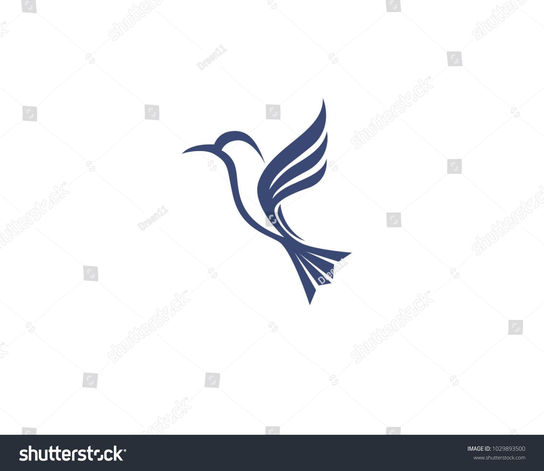 Hummingbird icon logo and symbols template vector Vector