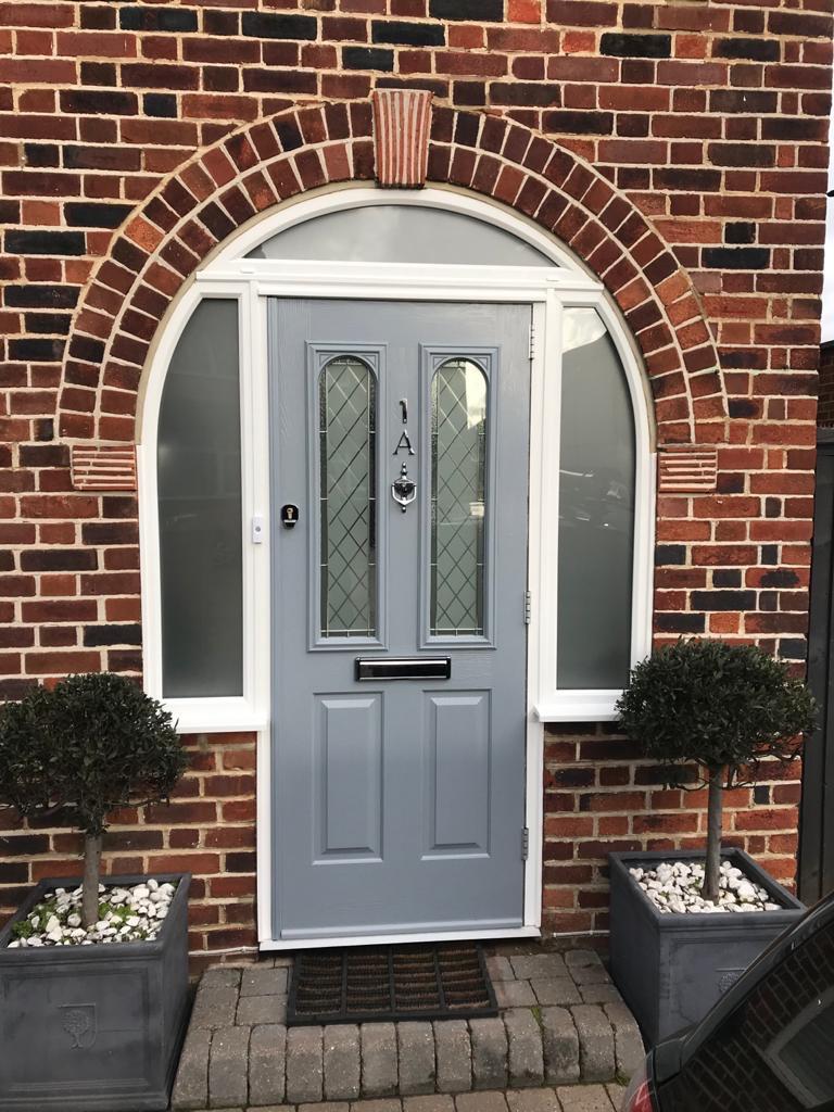 French Grey Solidor Nottingham In 2020 French Grey Composite Front Door Front Door Lighting