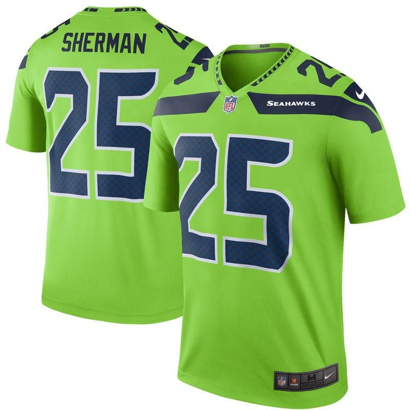 AdoreWe  Fanatics.com Teamware   Logo - Nike Men s Nike Richard Sherman  Green Seattle Seahawks Color Rush Legend Jersey - AdoreWe.com 910bb2438